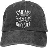 Chemo Hair Don't Care Unisex Soft Casquette Cap Fashion Hat Vintage Adjustable Baseball Caps One Size Fashion Can be Washed Black  B08R2DBHSY