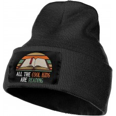 All The Cool Kids are Reading Slouchy Beanie for Men Women Winter Hats Warm Knit Skull Cap One Size B08VH3C5VN