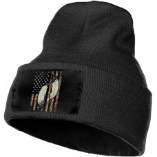 American Flag Native Tribe Feather Pride Slouchy Beanie for Men Women Winter Hats Warm Knit Skull Cap One Size B08V53RHH5